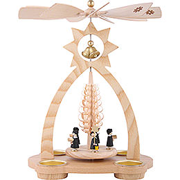 1 - Tier Bell - Pyramid Carolers  -  29cm / 11 inch