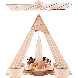 1 - Tier Pyramid  -  Angels Natural  -  29cm / 11.2 inch