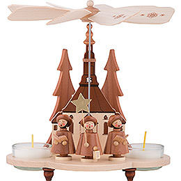 1 - Tier Pyramid  -  Carolers Natural  -  19,5cm / 7.5 inch
