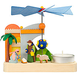 1 - Tier Pyramid  -  Nativity  -  12cm / 4.7 inch