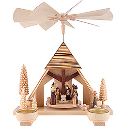 1 - Tier Pyramid  -  Nativity Scene  -  30cm / 11.8 inch