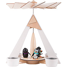 1 - Tier Pyramid  -  Penguins White  -  29cm / 11.2 inch