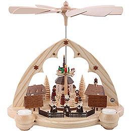 1 - Tier Pyramid  -  Seiffener Village Lancet Arch  -  36cm / 14 inch