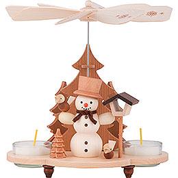 1 - Tier Pyramid  -  Snowman  -  19,5cm / 8 inch