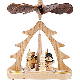 1 - Tier Pyramid  -  Winter Children  -  22cm / 9 inch