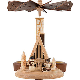 1 - Tier Smoking Pyramid  -  Ski Lodge  -  26cm / 10 inch