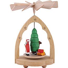 1 - stöckiges Wärmespiel Weihnachtsmann  -  10cm