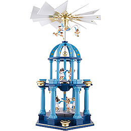 2 - Tier Pyramid  -  Eleven Angels, Colored  -  55cm / 21.7 inch