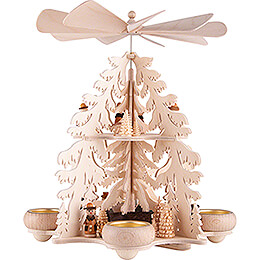 2 - Tier Pyramid  -  Fir Forest  -  Seiffen Village  -  28cm / 11 inch