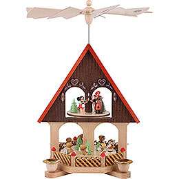 2 - Tier Pyramid  -  House Fairy Tale  -  36cm / 14.2 inch