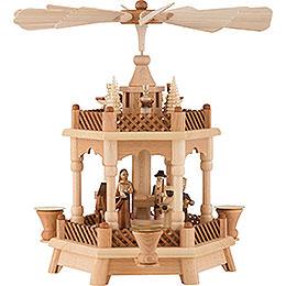 2 - Tier Pyramid  -  Nativity  -  32cm / 13 inch