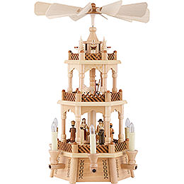 2 - Tier Pyramid  -  Nativity  -  45cm / 18 inch