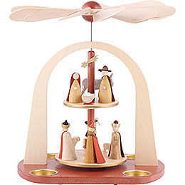 2 - Tier Pyramid  -  Nativity Scene  -  29cm / 11.4 inch