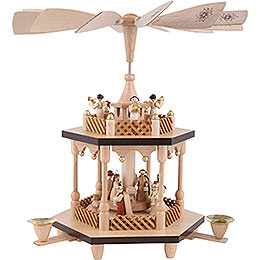 2 - Tier Pyramid  -  Nativity Scene  -  32cm / 13 inch