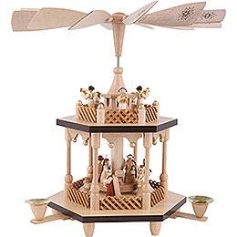 2 - Tier Pyramid  -  Nativity Scene  -  32cm / 13 inch