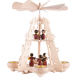 2 - Tier Pyramid  -  Starry Sky  -  Angels red  -  28cm / 11 inch