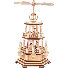 2 - Tier Pyramid  -  The Christmas Story  -  48cm / 19 inch  -  120 V Electr. Motor (US - Standard)
