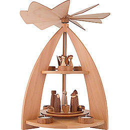 2 - Tier Pyramid modern Design Nativity  -  42cm / 16.5 inch