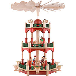 3 - Tier Pyramid  -  Nativity  -  39cm / 15.4 inch