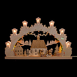 3D Candle Arch  -  Child with Sled  -  52x31,5cm / 20.5x12.4 inch