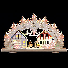 3D Candle Arch  -  'Children in the Village'  -  52x31,5x6cm / 20x12x2.3 inch
