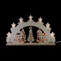 3D Candle Arch  -  'Christmas Market'  -  52x32x4,5cm / 20.5x12.5x1.7 inch