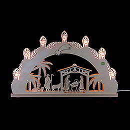 "3D Candle Arch  -  ""Nativity""  -  52x32x4,5cm / 20.5x12.5x1.7 inch"