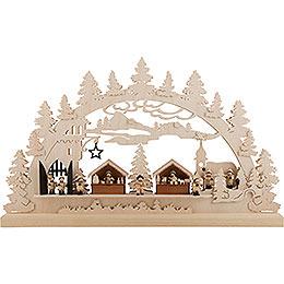 3D Double Arch  -  Castle Christmas  -  61x38x6cm / 24x15x2.5 inch