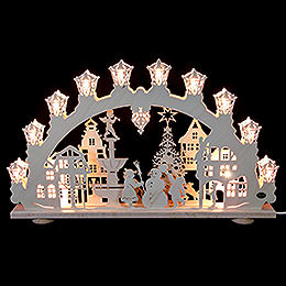 3D Light Arch  -  City in Winter  -  66x40x6cm / 2.4 inch