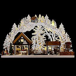3D - Schwibbogen Walki - Weihnachtsbäckerei  -  72x43cm