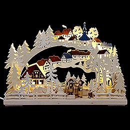 3D - Schwibbogen Winterwanderung  -  43x30cm