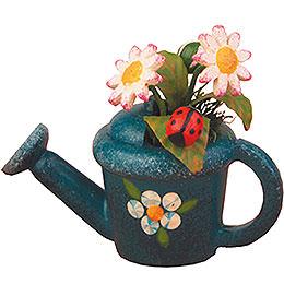 3er Set Gießkanne mit Gänseblümchen  -  4cm