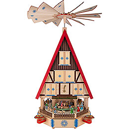 4 - Tier Adventhouse  -  The Arrival  -  78cm / 31 inch