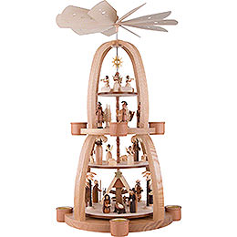 4 - Tier Pyramid  -  Nativity Scene  -  68cm / 26.8 inch