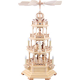 4 - Tier Pyramid  -  The Christmas Story  -  64cm / 25 inch  -  120 V Electr. Motor (US - Standard)