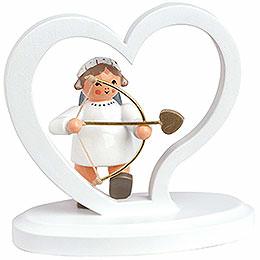 """Angel Letter Heart """"Amor""""  -  7cm / 2.8 inch"""