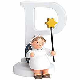 "Angel Letter ""P""  -  7cm / 2.8 inch"