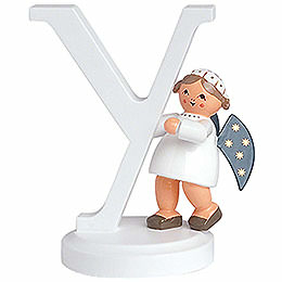 "Angel Letter ""Y""  -  7cm / 2.8 inch"