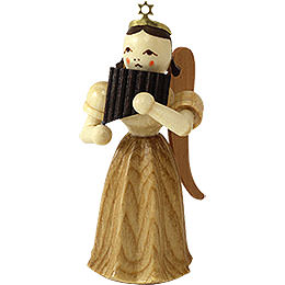 Angel Long Pleated Skirt with Panpipe, Natural  -  6,6cm / 2.6 inch