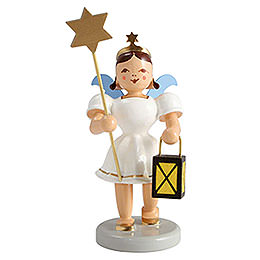 Angel Short Skirt Colored, Lantern and Star  -  6,6cm / 2.5 inch