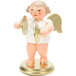 Angel White/Gold with Cymbals  -  6,0cm / 2 inch