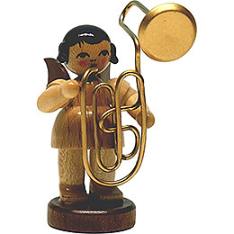 Angel with Contrabass Trombone  -  Natural  -  Standing  -  9,5cm / 3.7 inch