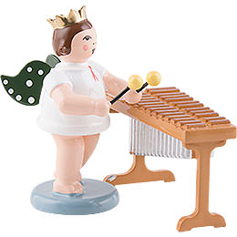 Angel with Crown at the Xylophone  -  6,5cm / 2.5 inch