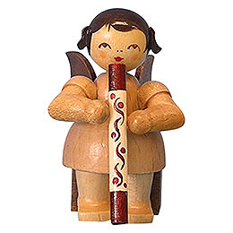 Angel with Didgeridoo  -  Natural Colors  -  Sitting  -  5cm / 2 inch