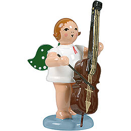 Angel with Double Bass  -  6,5cm / 2.5 inch