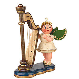 Angel with Harp  -  6,5cm / 2,5 inch