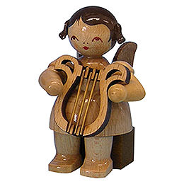 Angel with Lyre  -  Natural Colors  -  Sitting  -  5cm / 2 inch