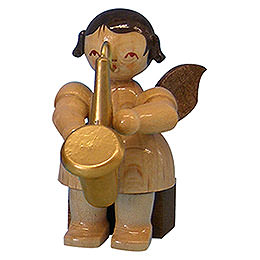 Angel with Saxophone  -  Natural Colors  -  Sitting  -  5cm / 2 inch