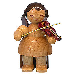 Angel with Violin  -  Natural Colors  -  Sitting  -  5cm / 2 inch