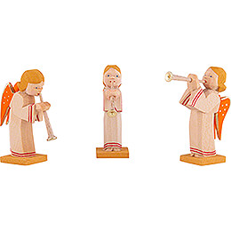 Angels with Flute, Set of Three  -  5,5cm / 2.2 inch